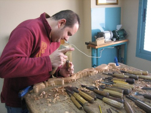 José Carlos Rubio Valverde trabajando